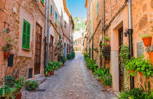 Fototapeta Old mountain village Valldemossa Majorca Spain
