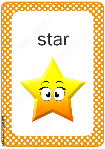 picture about Printable Shape Flash Cards identified as Printable Child Condition Flash card, Star - Obtain this inventory