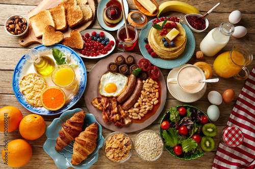 Fotografia Breakfast buffet full continental and english