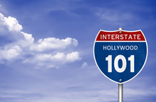 Hollywood Interstate Road Sign