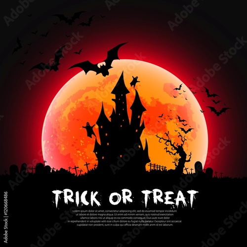happy halloween card template trick or treat sloga mix of various