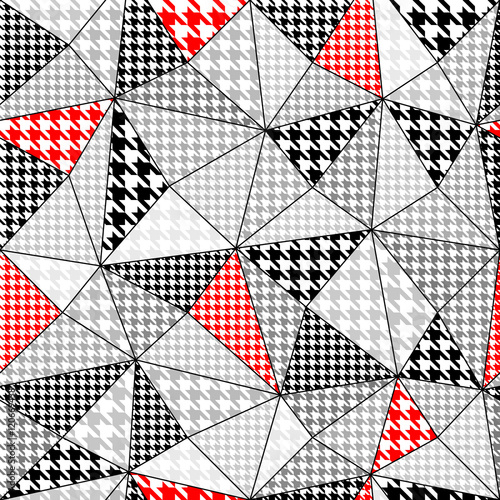 Photo  background with houndstooth pattern