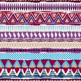 Abstract tribal vector seamless ornament. Cloth boho texture - 120670605