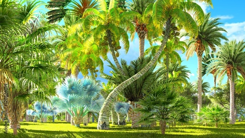 Obrazy dżungla   tropical-jungle-during-a-day-3d-rendering