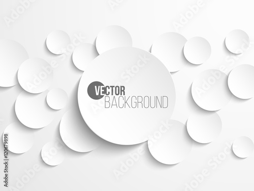 Obraz Paper circle banner with drop shadows - fototapety do salonu