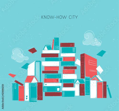 La città della conoscenza Wallpaper Mural