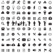 Set of business icons and figures of people. Set of icons for web and internet.