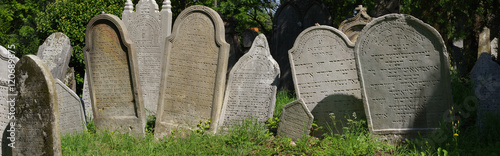 Zdjęcie XXL Panorama nagrobka cmentarza żydowskiego