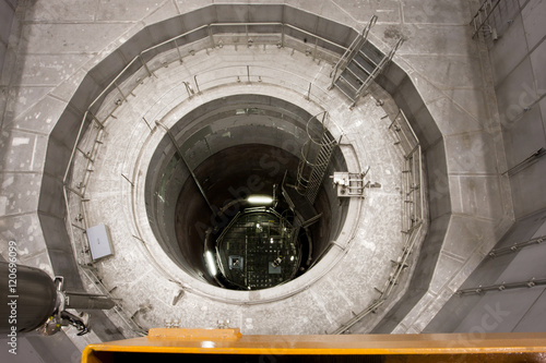 View into the reactor pressure vessel of Zwentendorf Nuclear Power Plant on June 1, 2013. The 1st nuclear plant in Austria has a boiling-water reactor rated at 692 MW