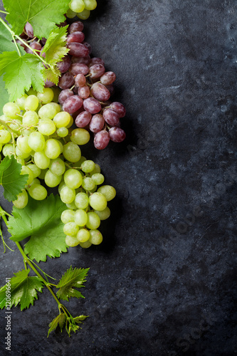 Red and white grapes Fototapete