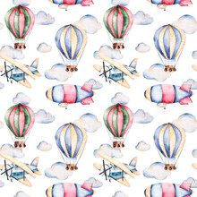 Seamless Pattern With Air Ball...