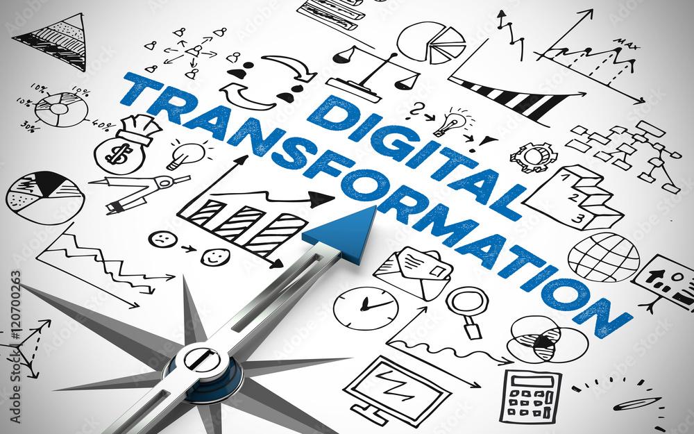 Fototapety, obrazy: Digital Business Transformation als Konzept