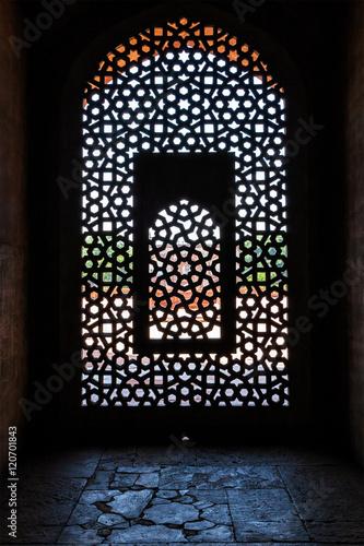 Printed kitchen splashbacks Delhi Marble carved screen window at Humayun's Tomb, Delhi
