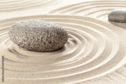 Acrylic Prints Stones in Sand japanese garden zen stone