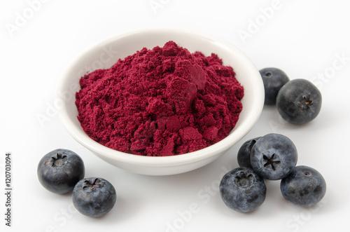 Slika na platnu Blaubeer-Fruchtpulver