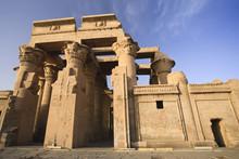 Egypt, Kom Ombo, Dual Temple Of Sobek And Haroerus, Hypostyle Hall