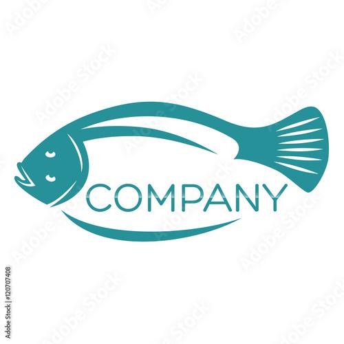 flounder logo Tableau sur Toile