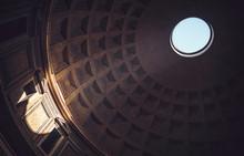Interior Of Rome Agrippa Pantheon, Italy