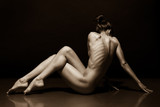 Art photo of sexy nude woman black and white