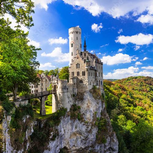 Foto op Plexiglas Kasteel Most beautiful castles of Europe - Lichtenstein . Germany