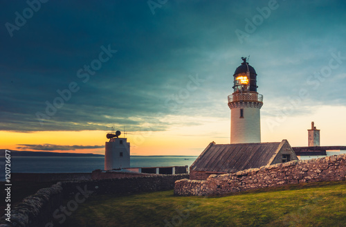Foto auf Leinwand Leuchtturm Dunnet Head lighthouse