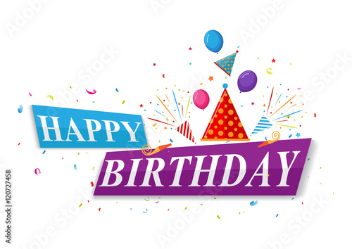 Happy Birthday Greetings Card Design Buy This Stock Vector And