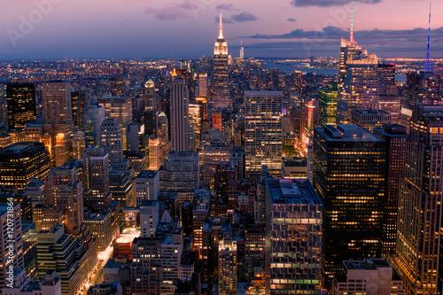 Fototapeten New York Beautiful sunset in New York City
