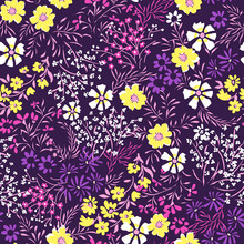 Tiny Ditsy Floral Print - Seamless Background