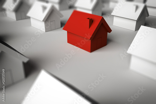 Fototapety, obrazy: 3D Rendering finding a home for sale