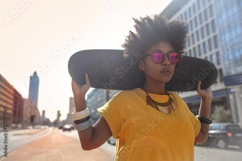 Valokuva Cool skater girl