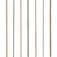 Collection Of Chains On An Isolated White Background