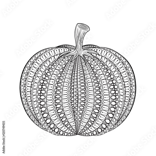 Abstract Vector Pumpkinhand Drawn Vegetable In Zentangle Style Patterns For Halloween Buy This Stock Vector And Explore Similar Vectors At Adobe Stock Adobe Stock