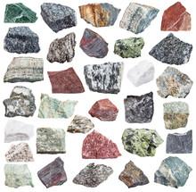 Set Of Metamorphic Rock Specimens