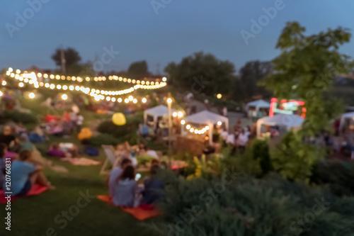 Fotografía  blur people picnic