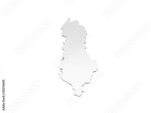 Karte Albanien.3d Illustration Karte Albanien Buy This Stock Illustration And