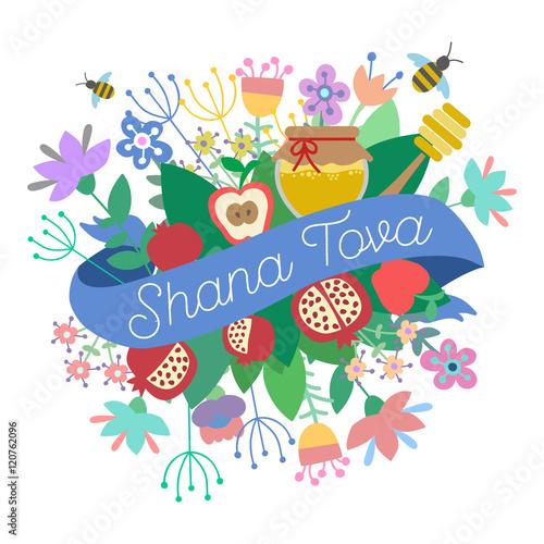 Shana tova happy new year on hebrew greeting card for jewish new shana tova happy new year on hebrew greeting card for jewish m4hsunfo