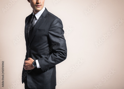 Fotomural Man wearing suit and tie.
