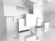 Architecture White Interior Design Background