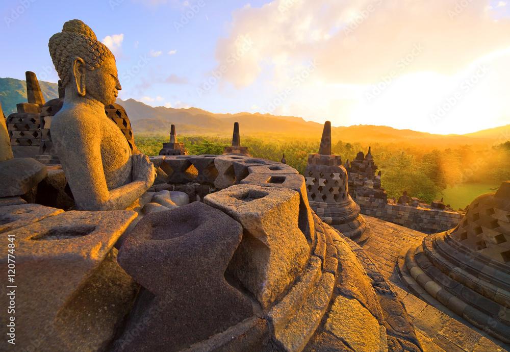 Fototapety, obrazy: Temple de Borobudur, Java, Indonésie