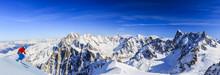 Skier Skiing Downhill Valle Bl...