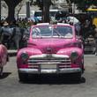"Kuba, Havanna, Taxistand am "" Parque Central """