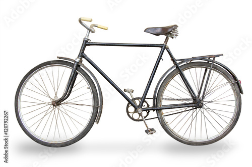 In de dag Fiets old bike isolated