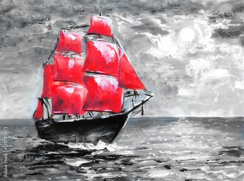 szkarlatne-zagle-obraz-olejny-statek-w-oceanie-uroczystosc-w-petersburgu-ilustracja-do-powiesci