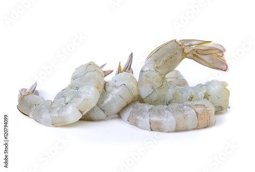 Fresh shrimp isolated on white