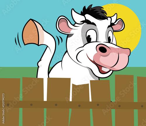 Fotografie, Obraz  Happy cow