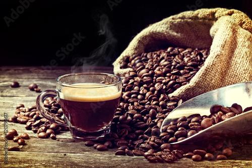 Café en grains espresso and coffee grain