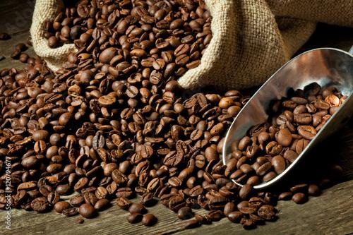 Wall Murals Cafe espresso and coffee grain