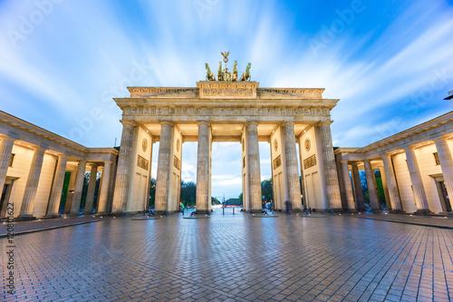 Keuken foto achterwand Berlijn The long exposure view of Brandenburg Gate in Berlin, Germany