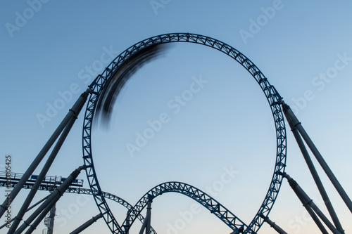 Zdjęcie XXL Looping with roller coaster train