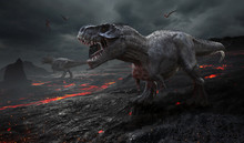 3D Rendering Of The Extinction...